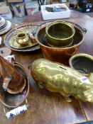 A QUANTITY OF COPPER AND BRASSWARES.