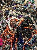 A LARGE QUANTITY OF MODERN COSTUME JEWELLERY.