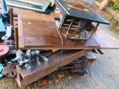 VARIOUS POWER TOOLS TO INCLUDE BENCH SAWS ETC.