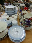 A VILLEROY & BOCH ACAPULCO PATTERN PART COFFEE SET, WORCESTER COFFEE CANS, OTHER CHINA WARES ETC.