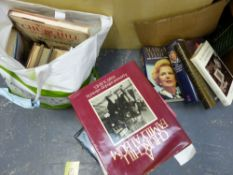 A COLLECTION OF VARIOUS BOOKS TO INCLUDE SIGNED COPIES, MARGARET THATCHER, LESTER PIGGOTT, MARY