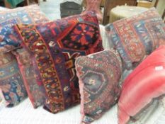 A QUANTITY OF VARIOUS CARPET CUSHIONS.