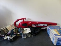 VARIOUS POWER TOOLS, A POWER DEVIL LEAF BLOWER/VAC ETC.