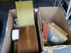 A QUANTITY OF ANTIQUE AND LATER BOOKS AND BINDINGS.