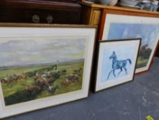 FOUR VARIOUS SIGNED PRINTS BY MICHAEL LYNE.