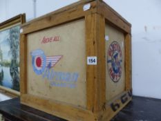 A RARE PLAYERS AIRMAN CIGARETTES PACKING CRATE.