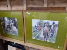 A SET OF FOUR PRINTS AFTER REDON AND THREE OTHERS.