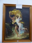 A MODERN OIL ON CANVAS AFTER PIERRE AUGUSTE COT, THE STORM.