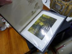 TWO FOLIOS OF PRINTS AND PICTURES.