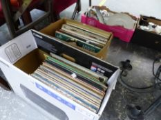 A QUANTITY OF VARIOUS RECORD ALBUMS.