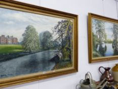 A PAIR OF OIL PAINTINGS SIGNED MACKAY. LATIMER AND ASHMERE.