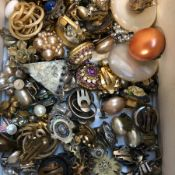 A COLLECTION OF VINTAGE EAR STUDS.