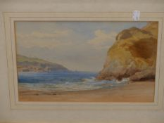 J. H. MOLE (1814-1886). NEAR TYNMOUTH, NORTHUMERLAND AND NEWQUAY, CORNWALL. BOTH SIGNED