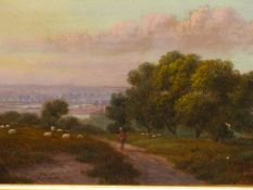 J.B. COOK (19th.C. ENGLISH SCHOOL). A PAIR OF LANDSCAPES, POSSIBLY WORCESTERSHIRE. ONE SIGNED, OIL