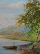 J.S. BILBIE (1860-1954). ARR. A PAIR OF LAKELAND VIEWS, BOTH SIGNED. OIL ON BOARD. 21 x 19cms (2).