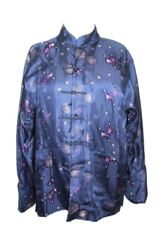 Lot 760 - 3 Oriental Style Jackets/Blouses, one reversible (3) CONDITION REPORT