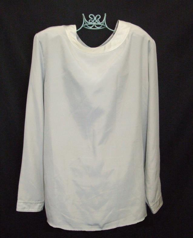 Lot 462 - Ladies Alexon Cream Satin Blouse size 10, Richards Grey Satin Blouse size 12, Alexon Grey Tie Neck