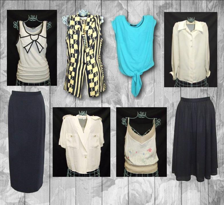 Lot 457 - Ladies Modern Separates Size 10/12 incl. Debenhams black crepe skirt, Claudia Strater long black