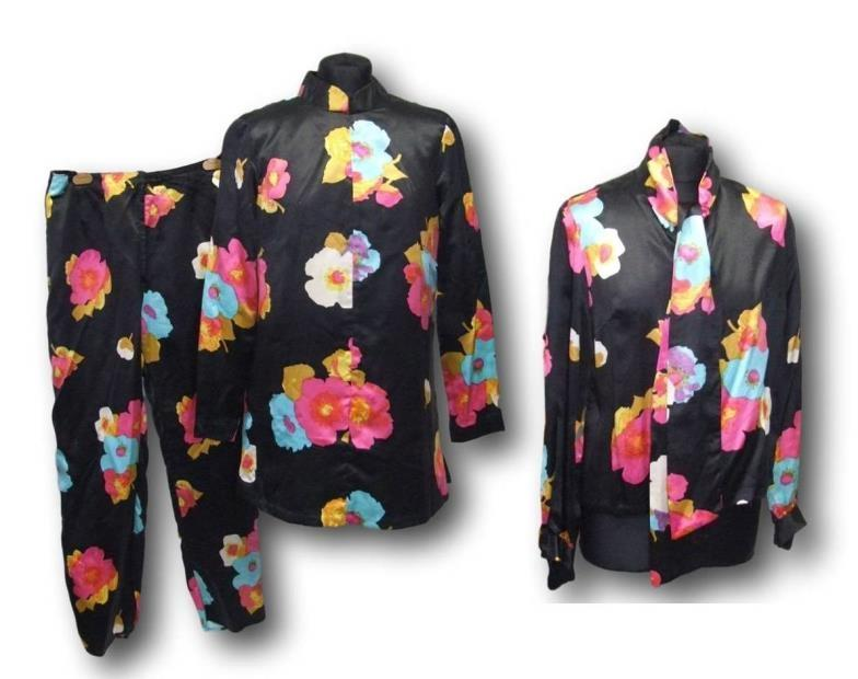 Lot 449 - Ladies Vintage Silk Trouser Suit with tunic top & blouse, approx. size 10/12 CONDITION REPORT