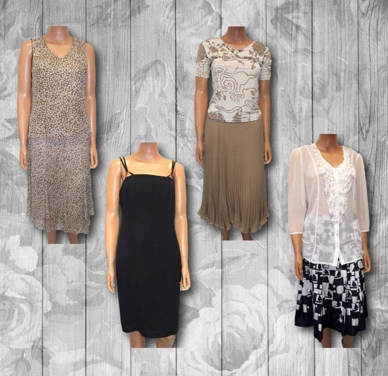 Lot 421 - Max Mara Beige Pleated Skirt size 10, Max Mara cream/beige top size S, In Town beige/white spotted