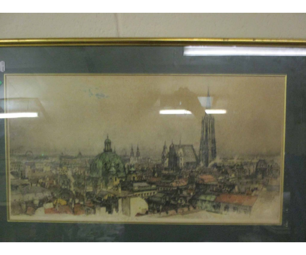 Lot 25 - PANORAMIC VIEW OF A CITY