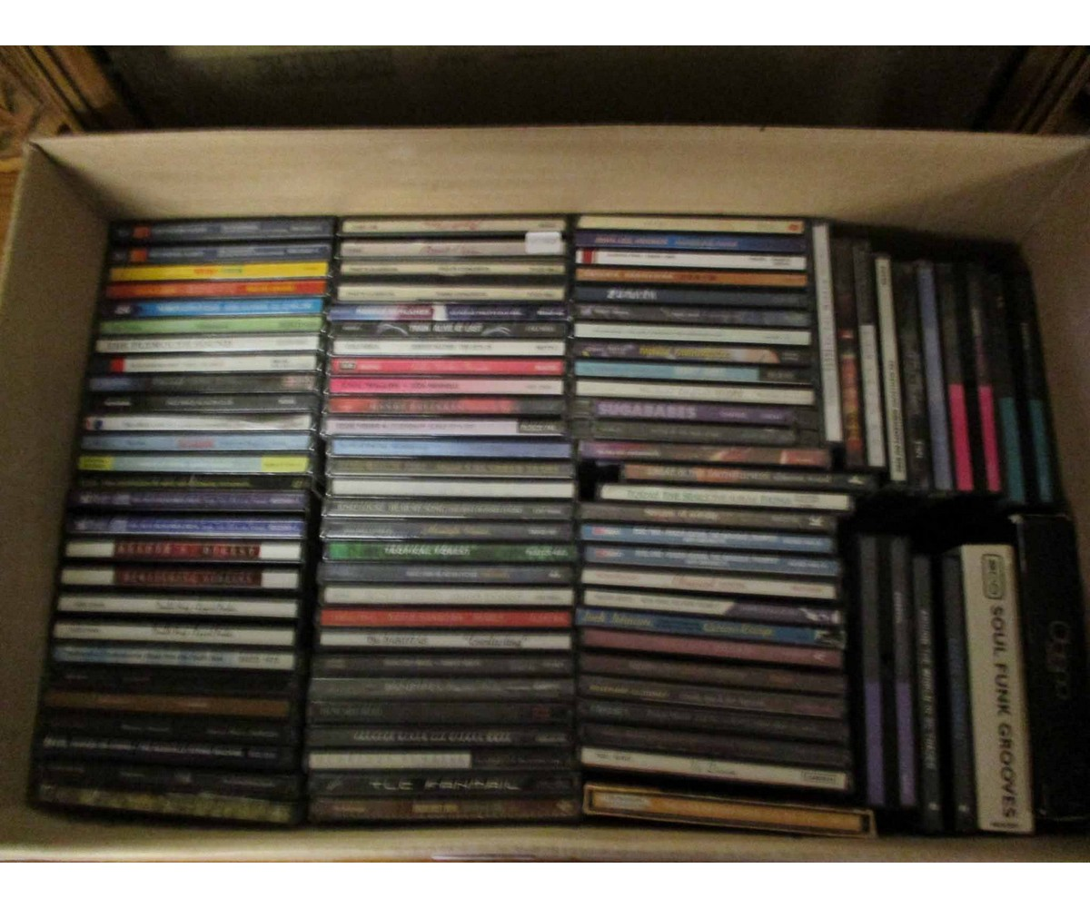 Lot 21 - BOX CONTAINING MIXED CDS ETC
