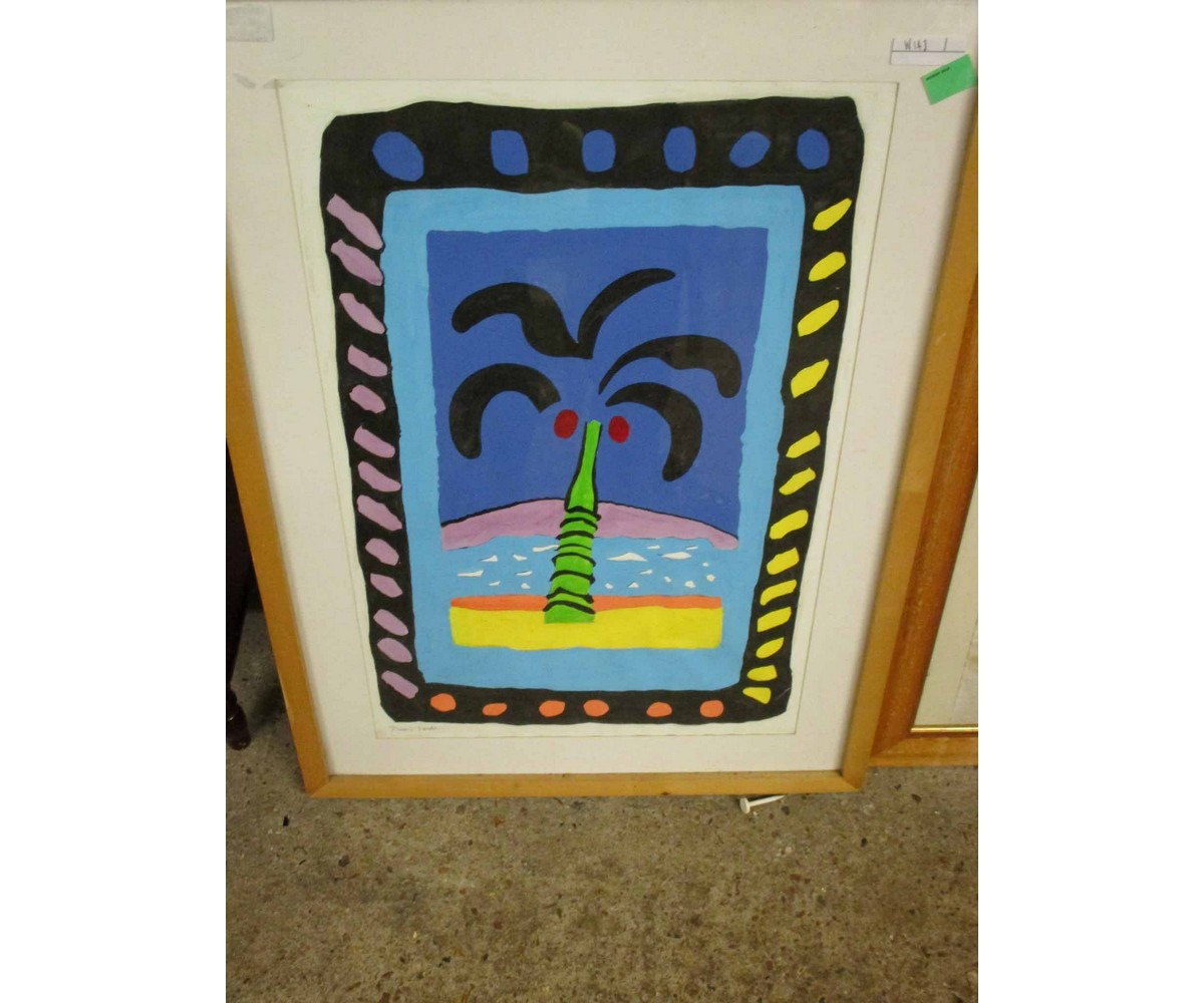 Lot 55 - DAVID SOWTER PICTURE OF A PALM TREE