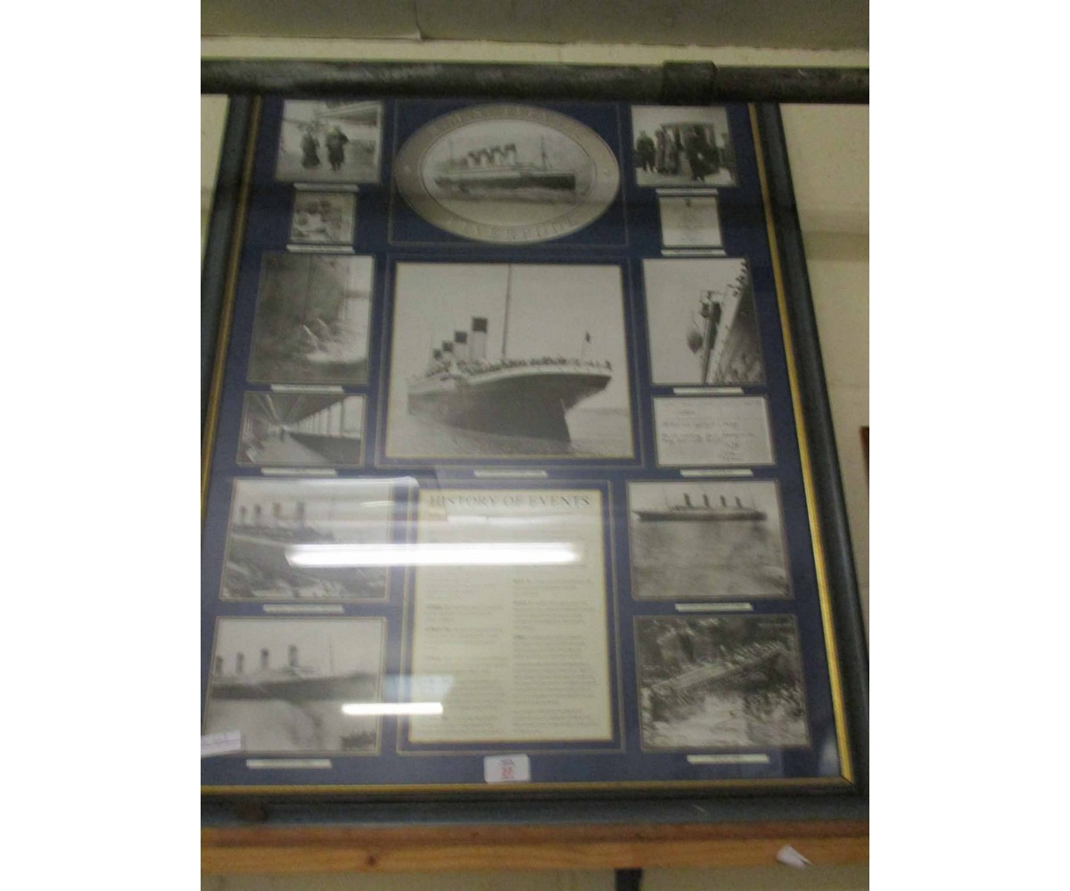 Lot 27 - FRAMED LIVERPOOL HISTORY OF EVENTS MONTAGE