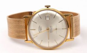 Gent's third quarter of the 20th century Rotary gold plated and stainless steel backed wrist watch