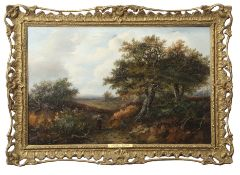 Joseph Thors (act 1863-1900) Rural landscapes pair of oils on canvas, one signed, 37 x 58cm (2)