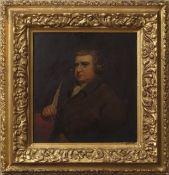 "After Joseph Wright of Derby (1734-1777) ""Erasmus Darwin"" oil on panel, 24 x 22cm"