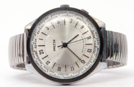 Gent's third quarter of 20th century (circa 1960s) Russian stainless steel cased large wrist watch