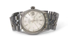 """Gent's last quarter of 20th century stainless steel cased Rolex Oyster Perpetual """"Datejust"""""""