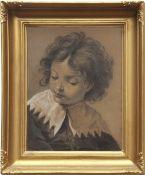 FOLLOWER OF GIOVANNI BATTISTA PIAZZETTA (1682-1754, ITALIAN) Head and shoulders portrait of a