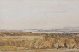 Edmund Morison Wimperis (1835-1900) Extensive coastal scene watercolour, 14 x 21cm Provenance: