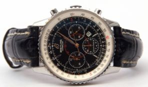 """Gent's last quarter of the 20th century Breitling """"Montbrillant"""" chronometer with gold hands to a"""