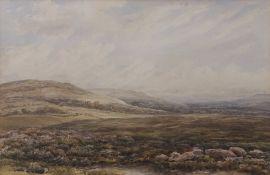"""Edmund Morison Wimperis (1865-1900) """"Bolton Castle, Yorkshire"""" watercolour, initialled lower left,"""