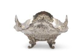 Rococo style decorative bowl, Dutch rampant lion mark, 'key' (export) hallmark, date letter B for