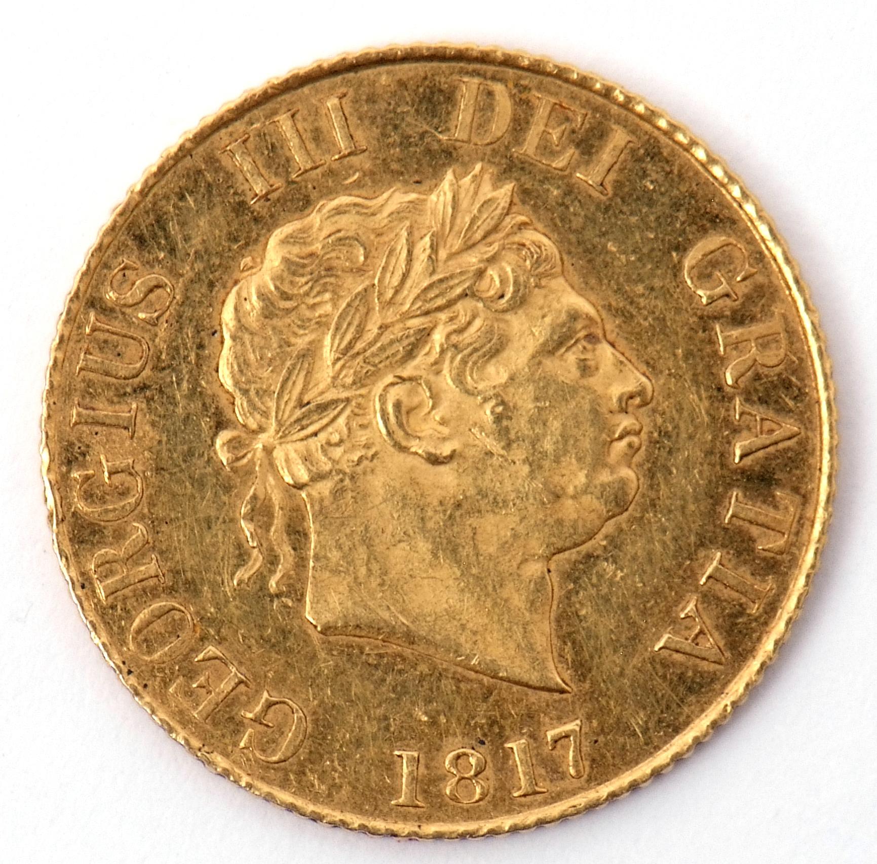 George III Gold Half Sovereign Dated 1817, Laureate Head