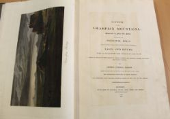 George Fennell Robson Scenery of the Grampian Mountains London 1819 folio, hand coloured folding map