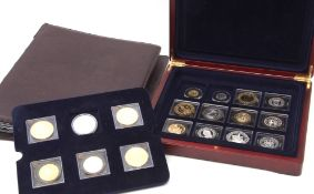 "London Mint Office ""The Millionaires"" Collection of 18 modern replica coins comprising Edward III"
