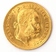 Austrian gold Ducat, dated 1915 (re-strike)