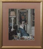 AR Peter Arthur Brannan (born 1929) Self portrait mixed media on card, 24 x 20cm