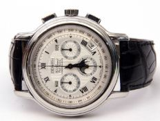 Gent's first quarter of the 21st century stainless steel cased Zenith El Primero fly-back