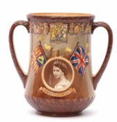 Royal Doulton limited edition loving cup to commemorate the Coronation of Queen Elizabeth II, the