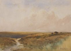 George Sykes (19th/20th century) Moorland scene watercolour, signed lower right, 26 x 36cm