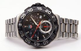Gent's first quarter of 21st century stainless steel cased Tag Heuer Formula 1 wrist watch with