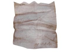 Late 16th century property inventory on vellum