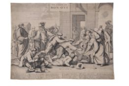 "Attributed to Samuel Bernard (1615-1687) ""La Chasse de mon Oye"" Old master black and white"