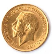 George V half sovereign dated 1912